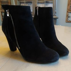 Womens Sam Edelman Sadee Black Suede Ankle Boots